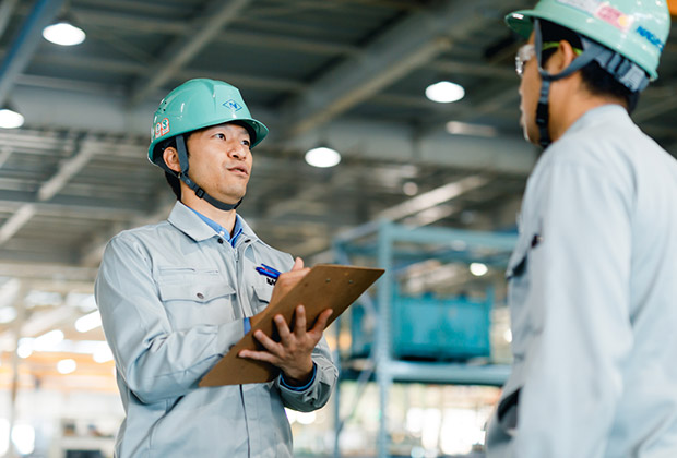 安全衛生管理や福利厚生など社員の働きやすい環境づくりを行っています。